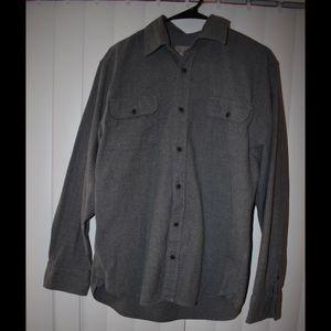Gray flannel button up